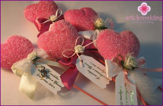 Tags for candy boxes wedding