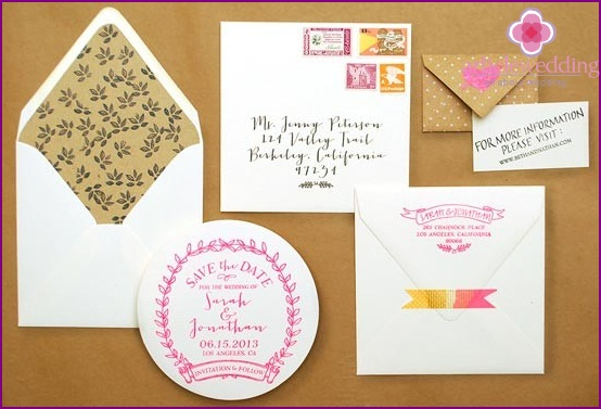 Creative greeting card for wedding