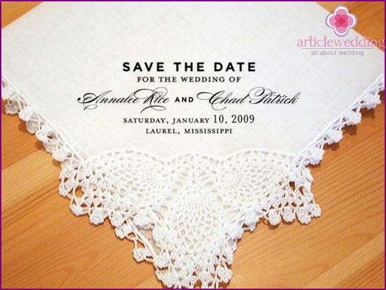 Invitation to the wedding date