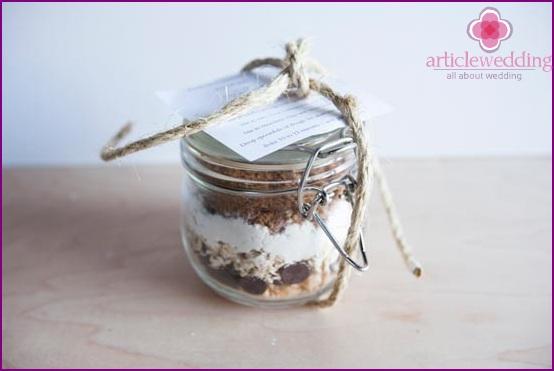 The recipe in a jar