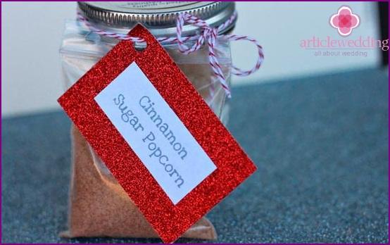 Cute gift in a jar