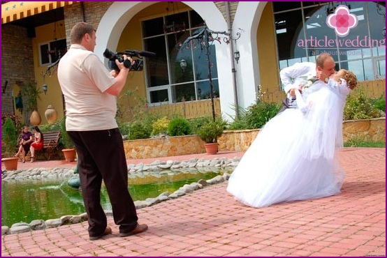 Videographer at work