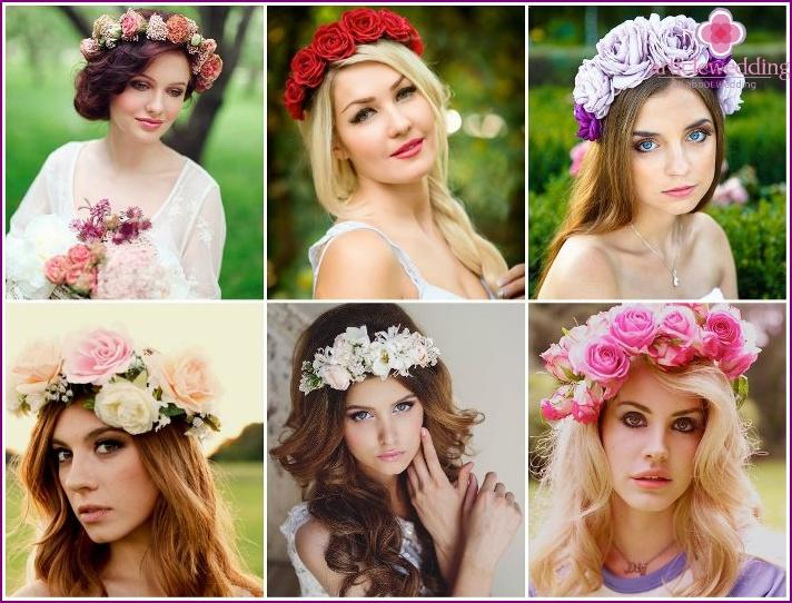 Фото венки из цветов на голову своими руками 814