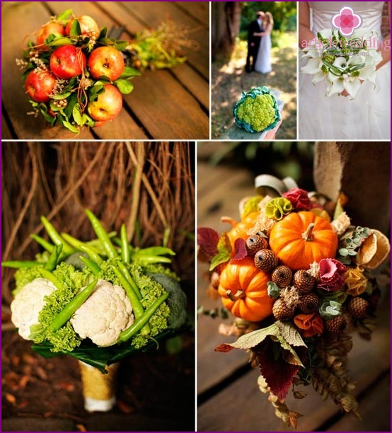 Green vegetable bouquets