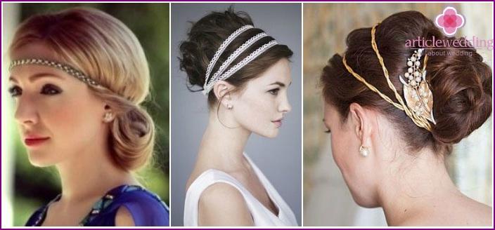 Peinados para vestido corte griego