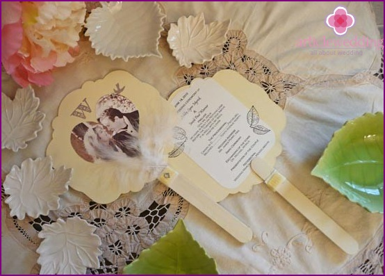Double-sided wedding program