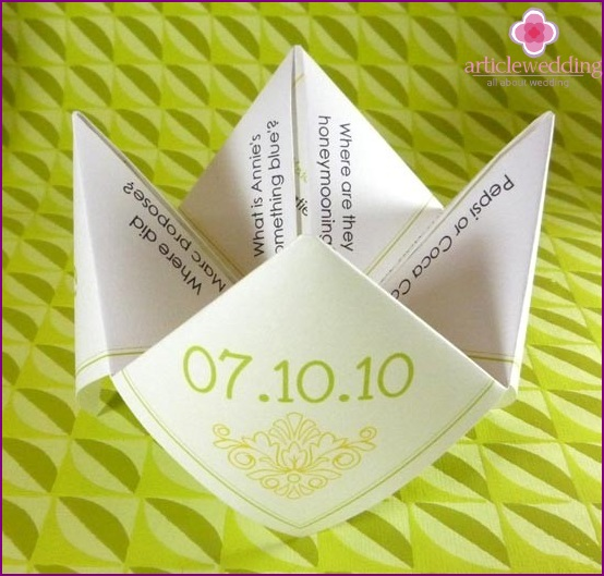 Bulk wedding program