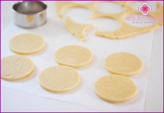 Cut out cookies using molds