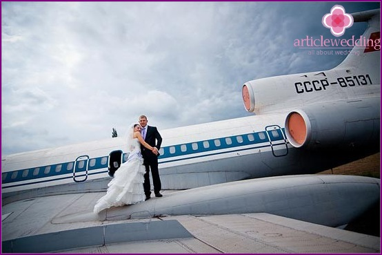 Wedding on the plane