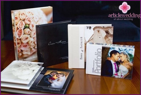 Options for wedding photo books