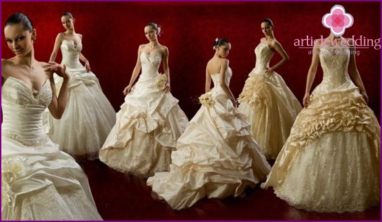 Hire of wedding dresses