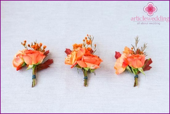 Boutonnieres own hands