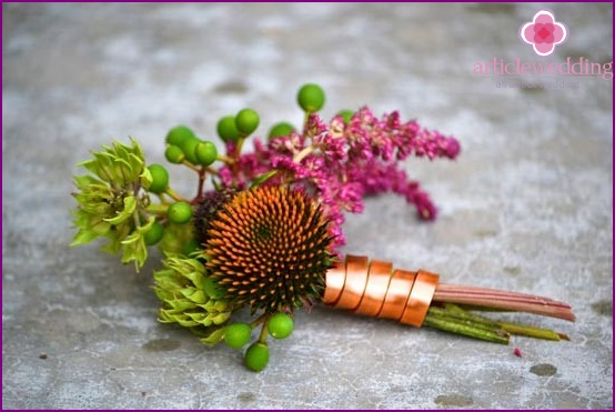 Master boutonniere on wedding