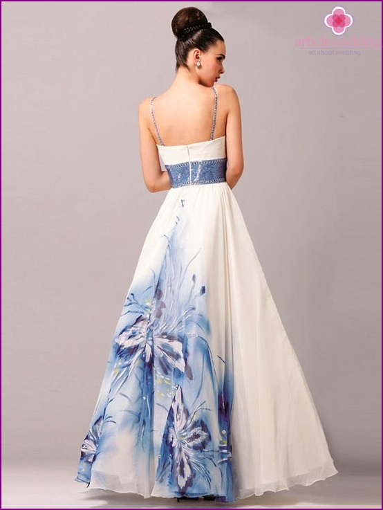 Ball Gown with a delicate print
