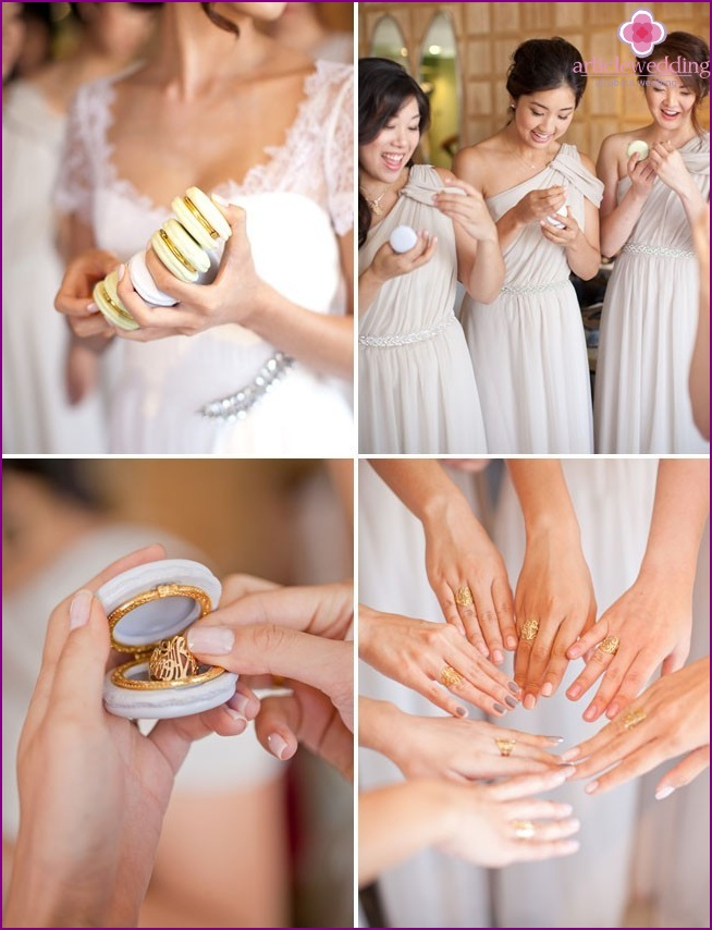 Rings for bridesmaids