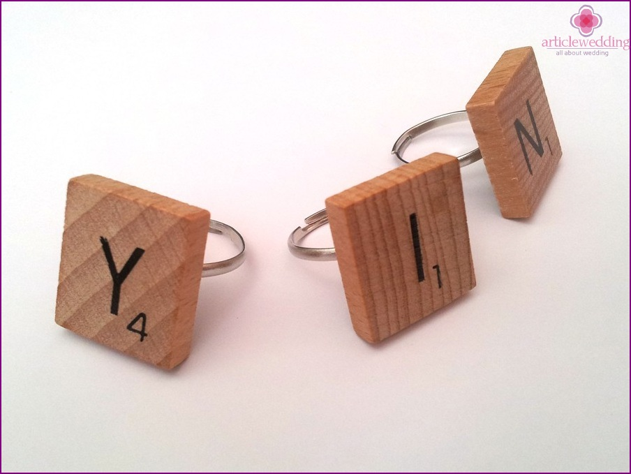 Rings with initials