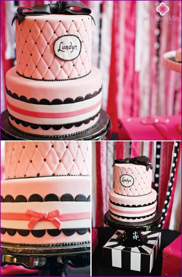 Cake in the style of Barbie