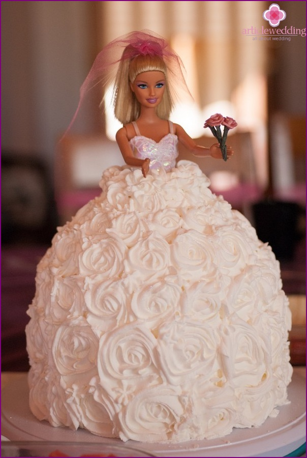 Cake For A Bachelorette Party In The Style Of Barbie