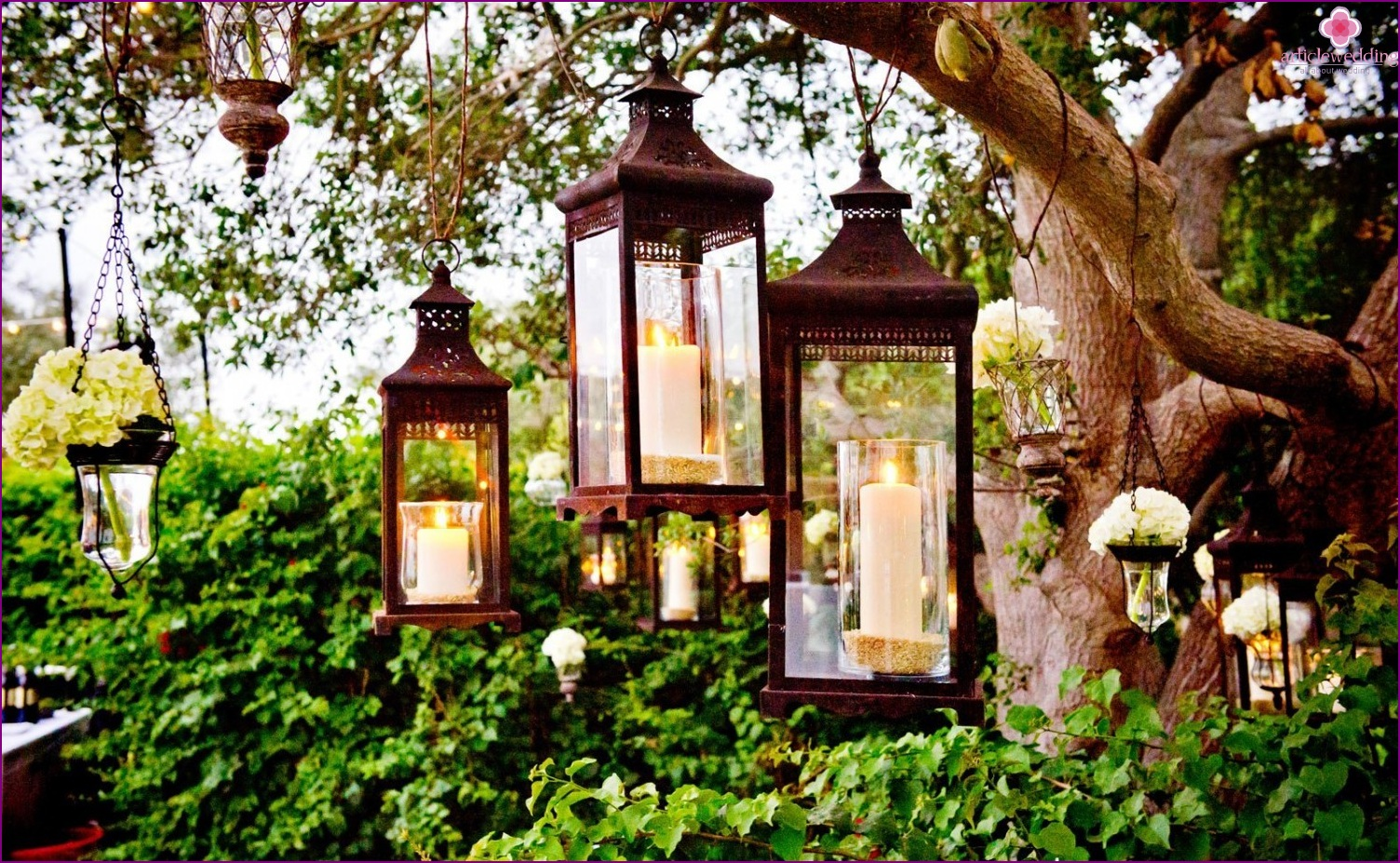 Ljus bröllop dekor: från idé till förverkligande