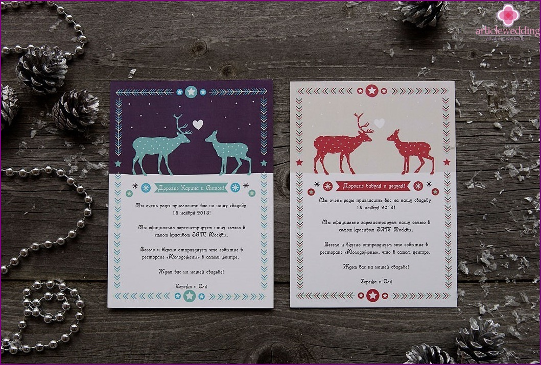 Invitations winter wedding