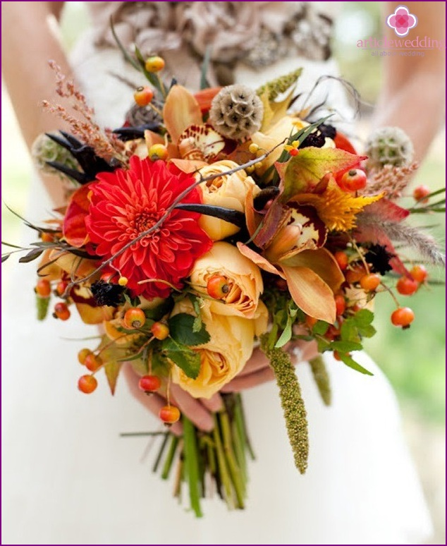 The bride's bouquet