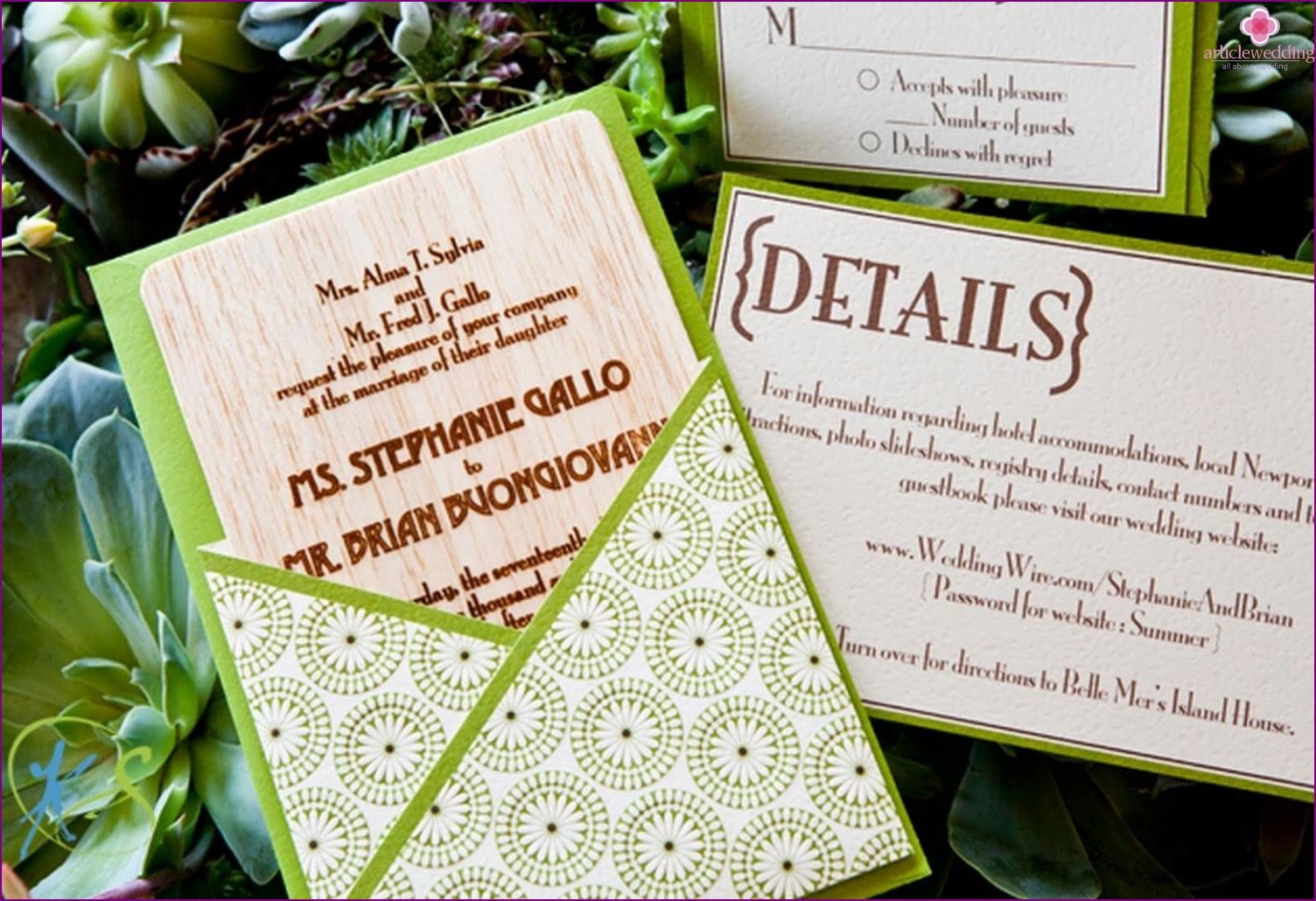Invitations to eco-style