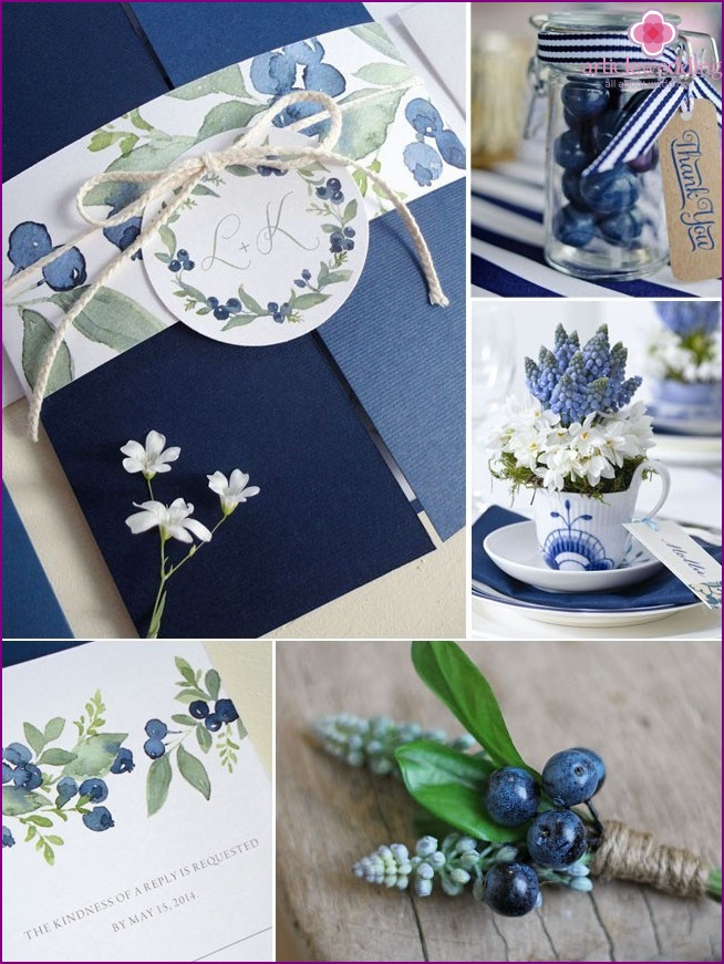 Style blueberry wedding