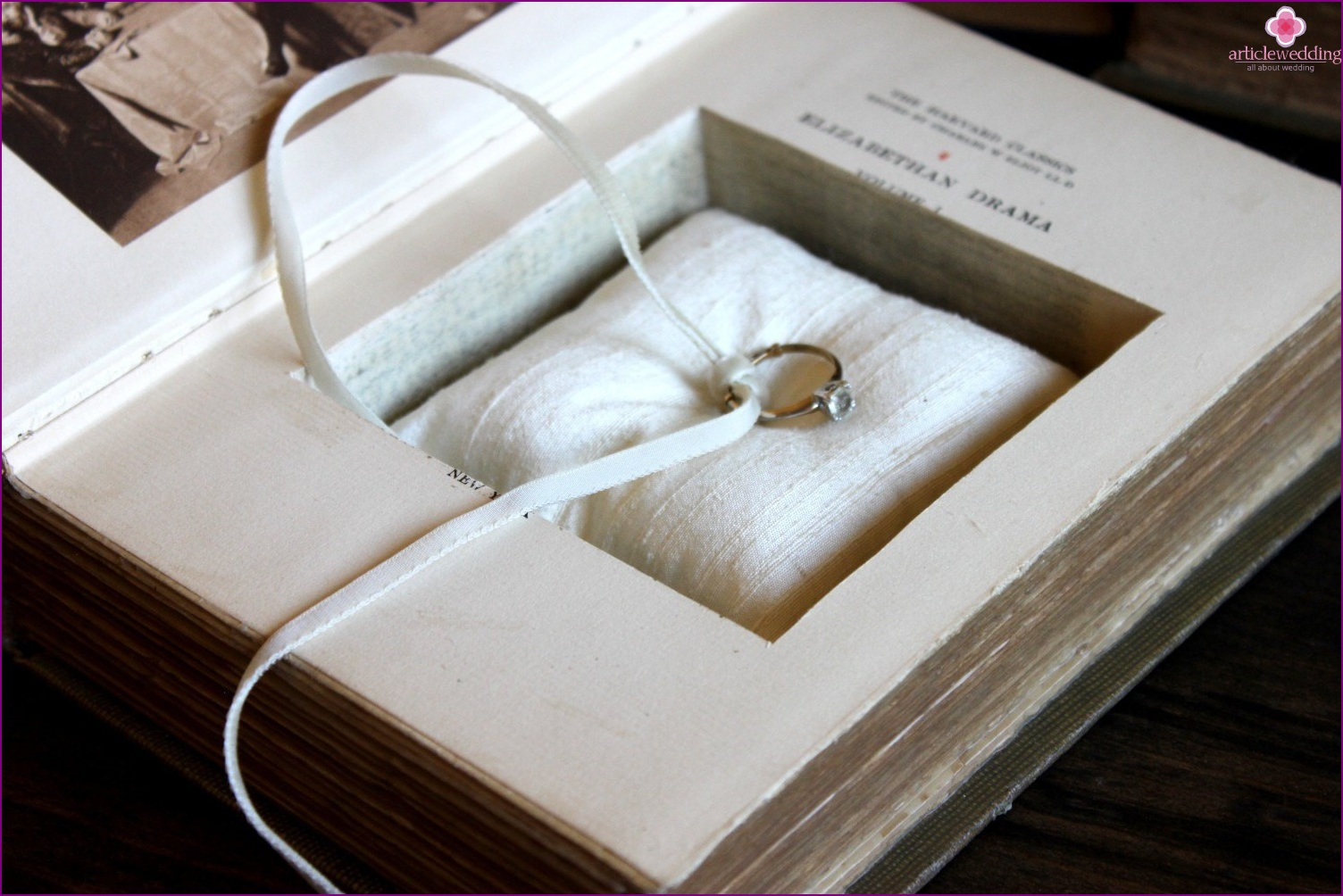 Vintage book for rings