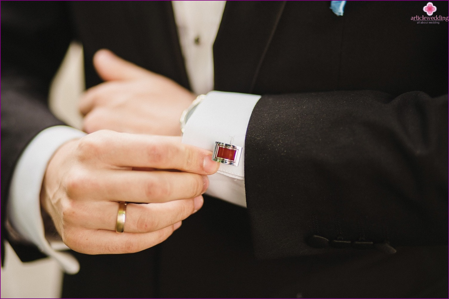 Cufflinks for the groom