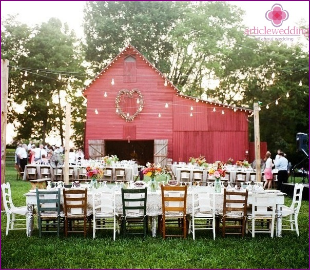Wedding in country style
