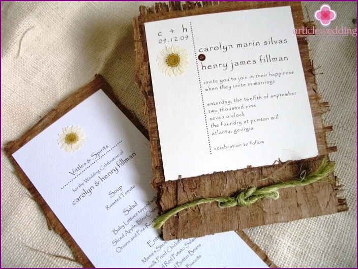 Invitations country style
