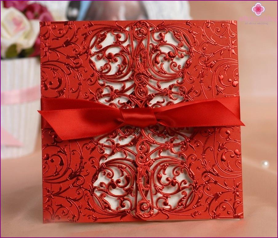 Invitations in oriental style