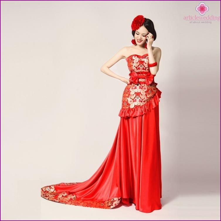 The dress in oriental style