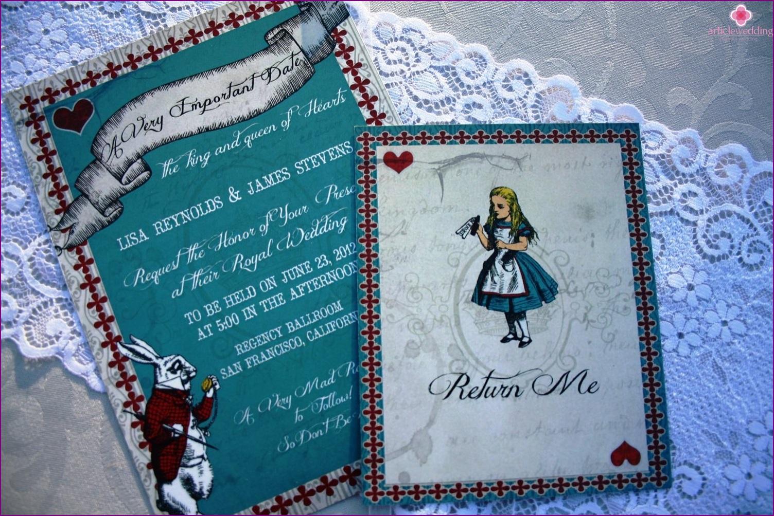 Invitation style Wonderland