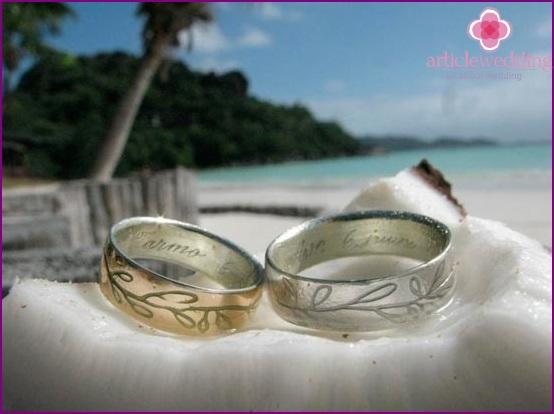 Romantic wedding on the island