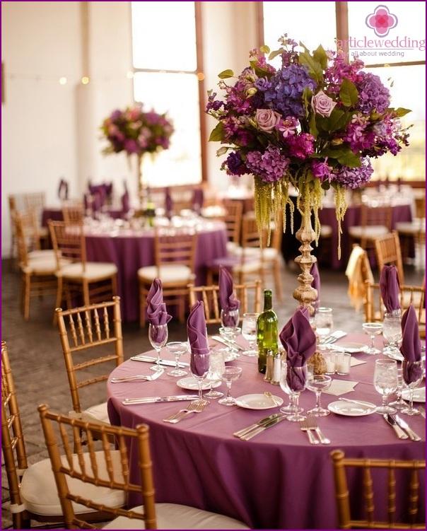 Wedding in purple color