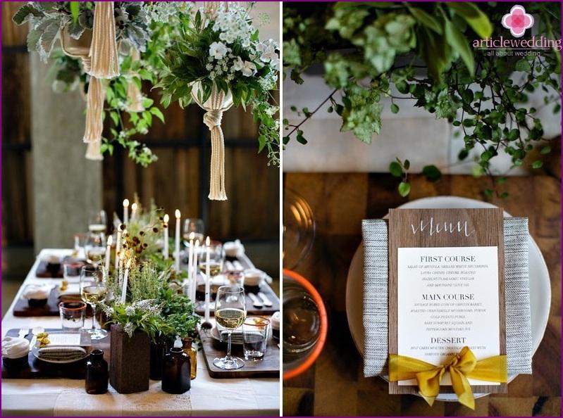 Wedding eco-decor