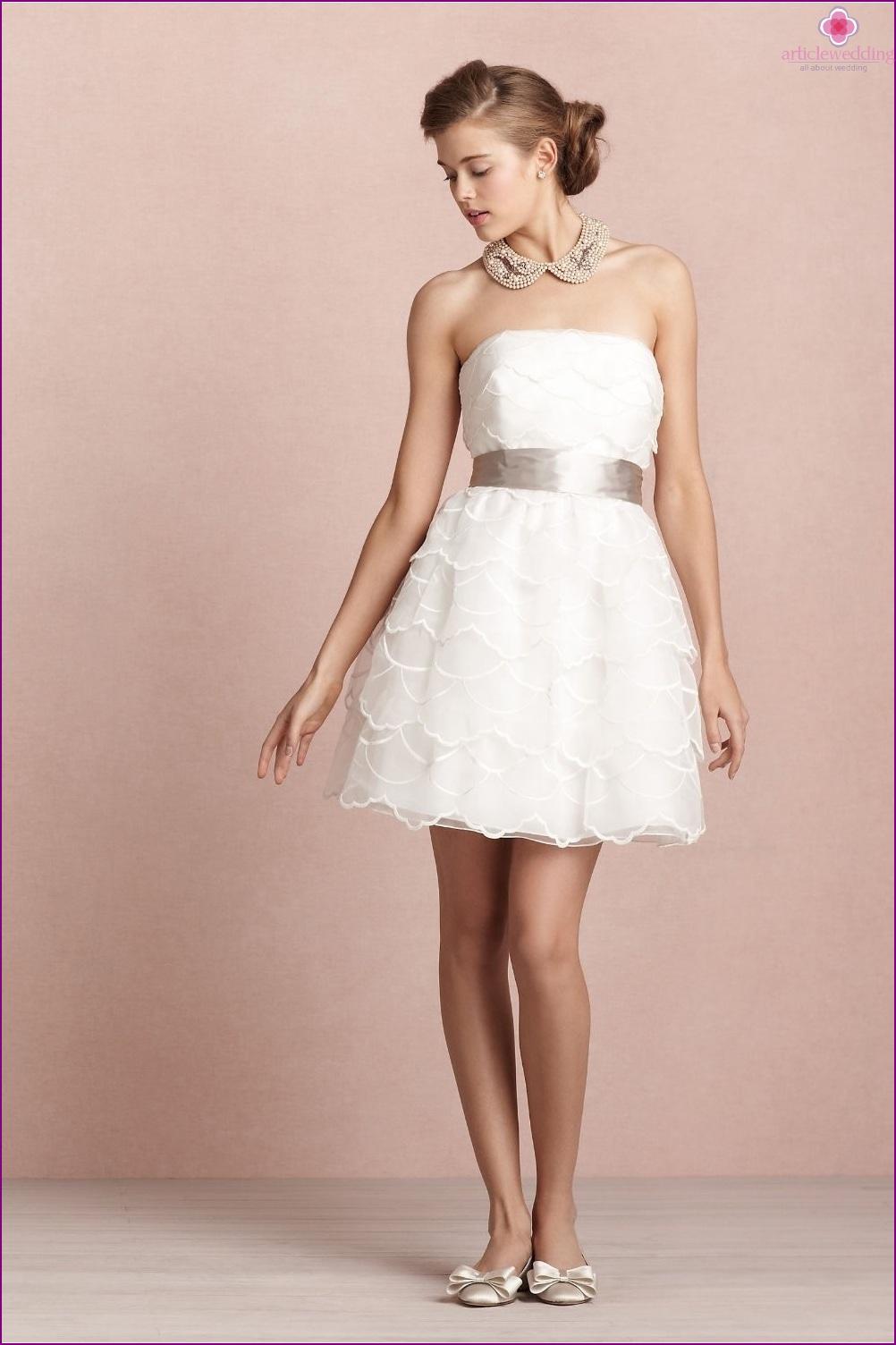vestidos de novia cortos - tendencia de la moda de 2014