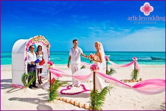 The wedding in the Dominican Republic - a copy