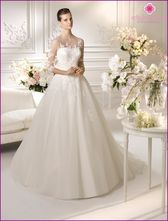 Closed Wedding Dress