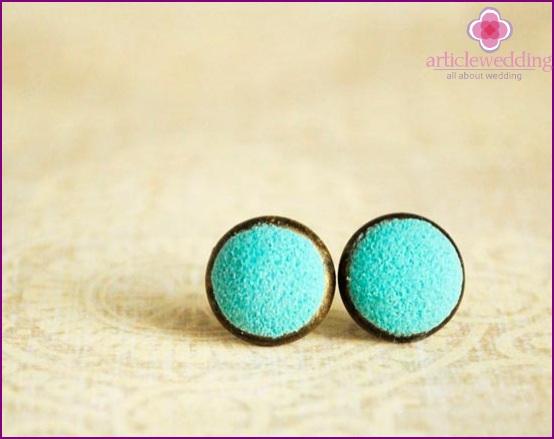 Earrings in mint color