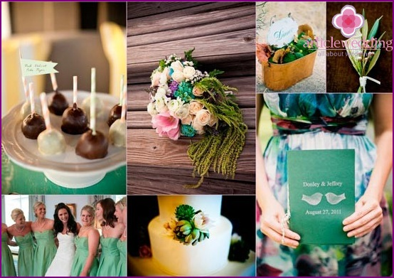 Wedding banquet in shades of mint