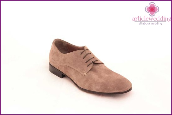 Option suede obuvki groom