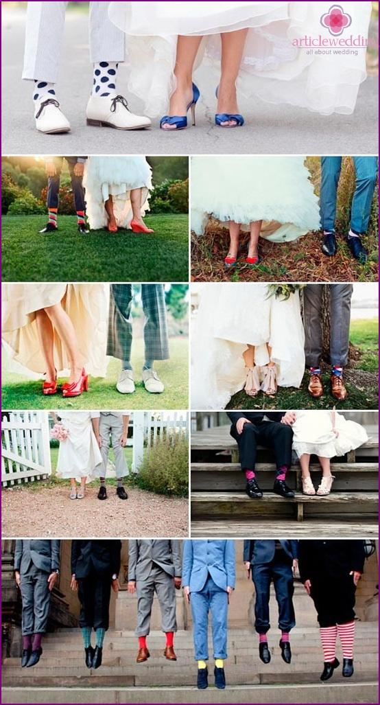Funny groom's socks