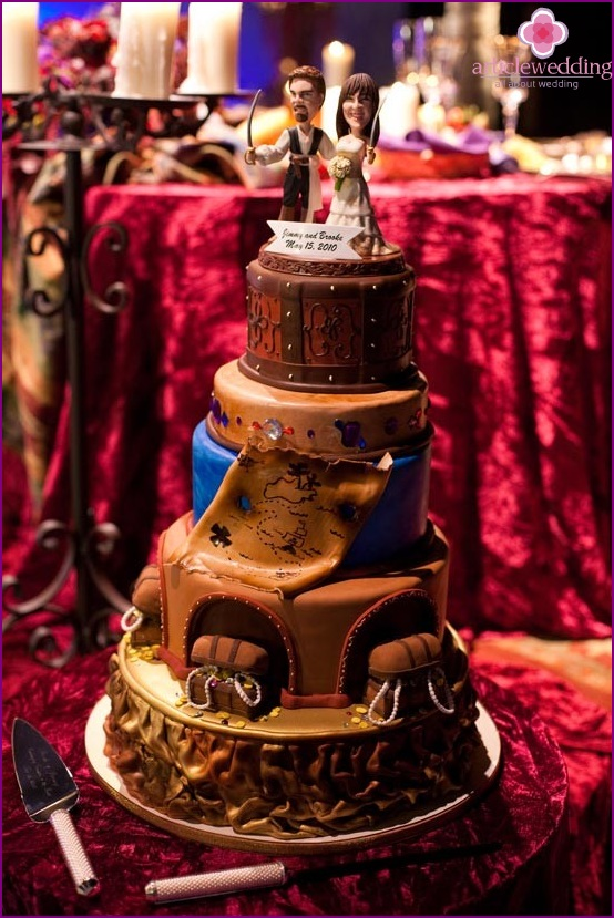 Wedding cake for the real pirates