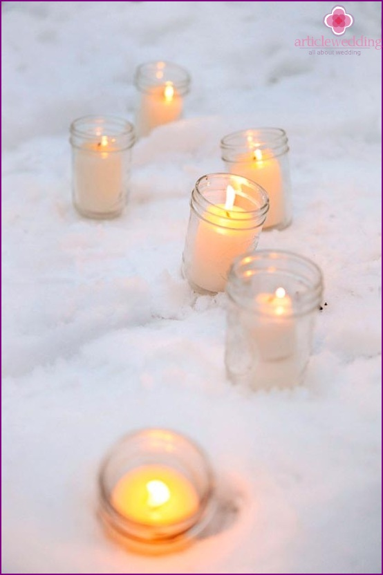 Candles for a winter photo shoot