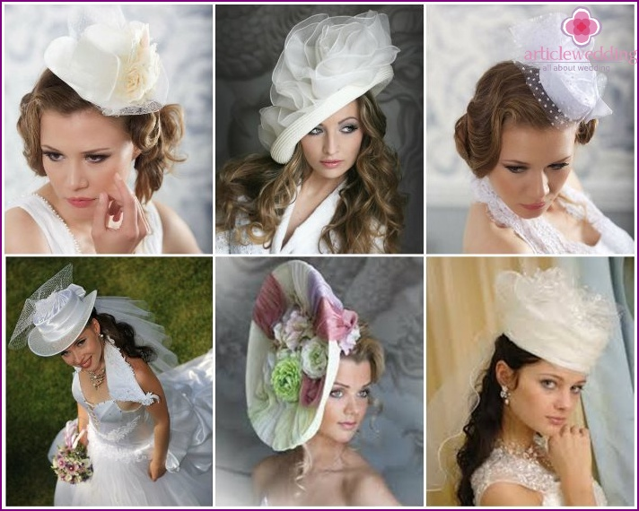 Wedding hat instead of a veil