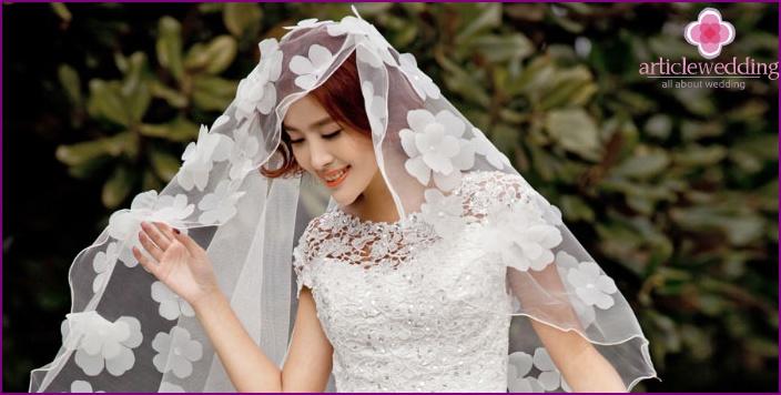 How to make elegant floral veil