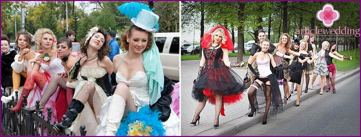 Theme party Moulin Rouge for a bachelorette party