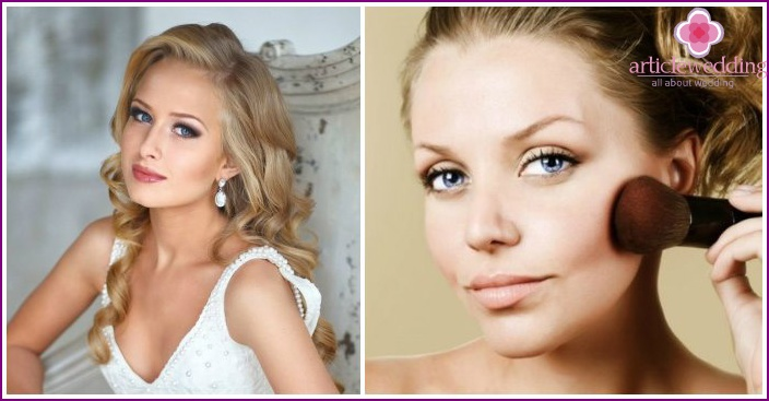 The choice for a wedding makeup rouge girls-blondes